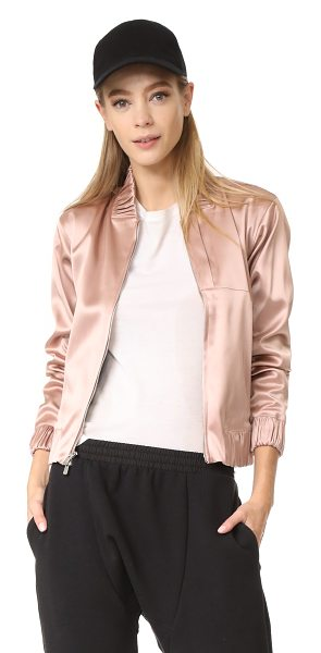 APL: Athletic Propulsion Labs bomber jacket in dusty rose - This APL: Athletic Propulsion Labs bomber jacket is...