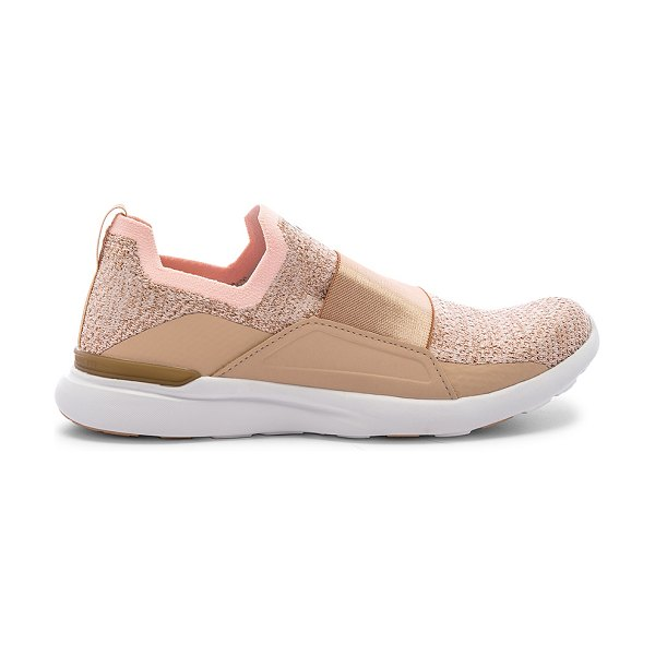 APL: Athletic Propulsion Labs techloom bliss sneaker in rose gold & white - APL: Athletic Propulsion Labs Techloom Bliss Sneaker in...
