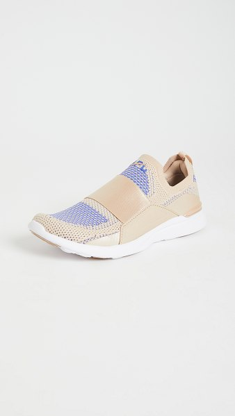 APL: Athletic Propulsion Labs techloom bliss sneakers in champagne/cobalt/white