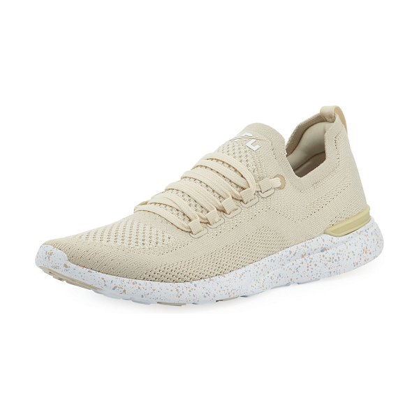 """APL: Athletic Propulsion Labs Techloom Breeze Knit Mesh Sneakers in parchment blush - APL: Athletic Propulsion Labs """"Techloom Breeze"""" mesh..."""