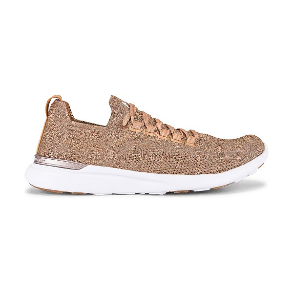APL: Athletic Propulsion Labs techloom breeze sneaker in rose gold & white