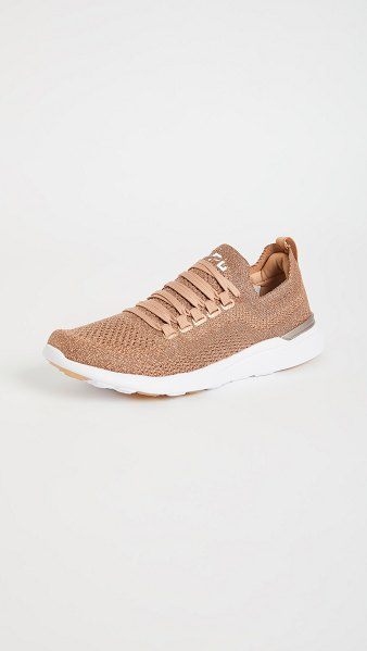 APL: Athletic Propulsion Labs techloom breeze sneakers in rose gold/white