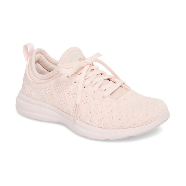 APL: Athletic Propulsion Labs 'techloom phantom' running shoe in pink - This street-smart sneaker grounded with treads inspired...