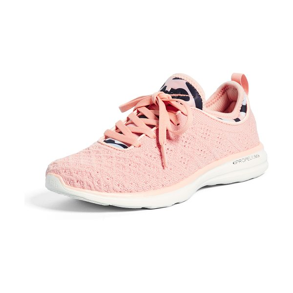 APL: Athletic Propulsion Labs techloom phantom sneakers in tropical pink/midnight/pristin - Raised stitch patterns bring unique dimension to these...
