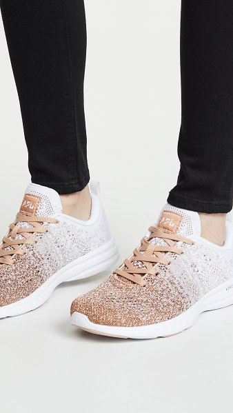 APL: Athletic Propulsion Labs techloom pro sneakers in rose gold/white/ombre