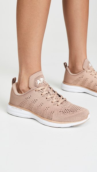 APL: Athletic Propulsion Labs techloom pro sneakers in almond/white