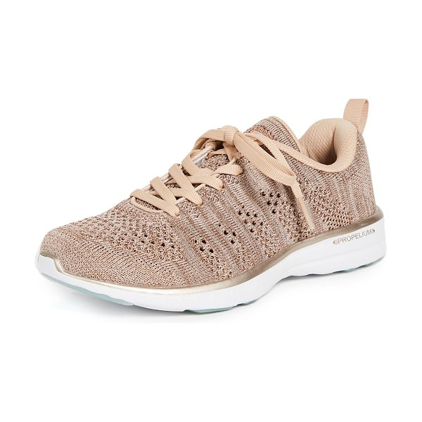 APL: Athletic Propulsion Labs techloom pro sneakers in rose gold melange - Fabric: Fused knit Athletic style Flat profile Lace-up...