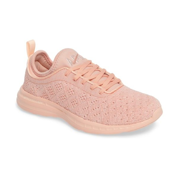 APL: Athletic Propulsion Labs 'techloom phantom' running shoe in tropical peach - This street-smart sneaker grounded with treads inspired...