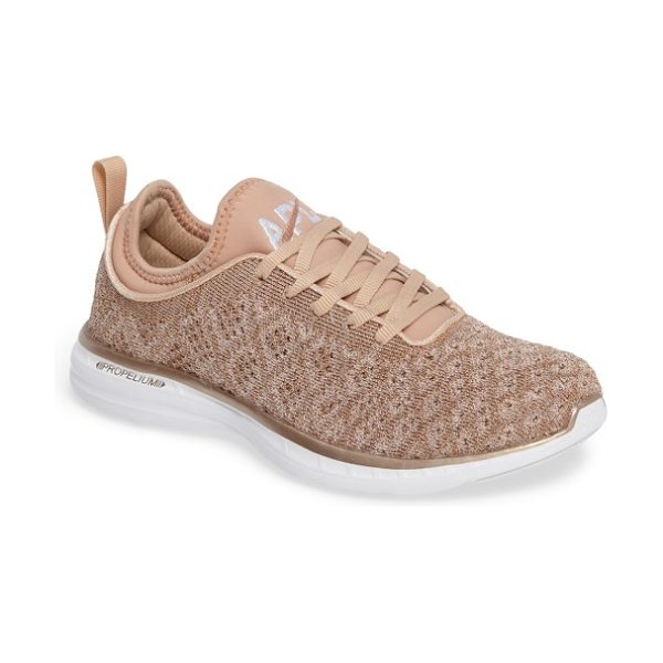 APL: Athletic Propulsion Labs 'techloom phantom' running shoe in rose gold - This street-smart sneaker grounded with treads inspired...