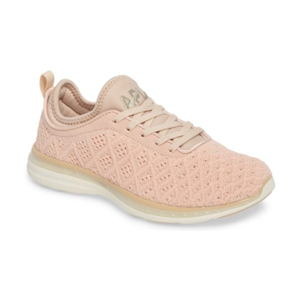 APL: Athletic Propulsion Labs 'techloom phantom' running shoe in blush/ cream - This street-smart sneaker grounded with treads inspired...
