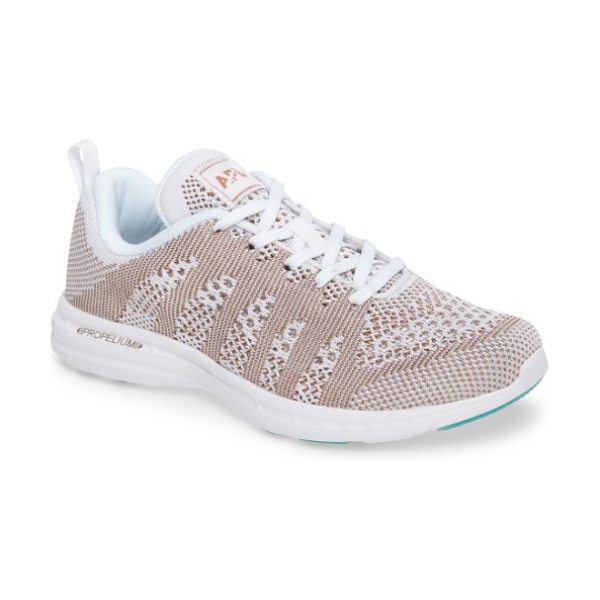APL: Athletic Propulsion Labs 'techloom pro' running shoe in white/ rose gold/ melange - This street-smart sneaker grounded with treads inspired...