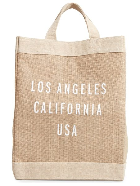 APOLIS los angeles simple market bag - A handcrafted tote with a waterproof lining and natural...