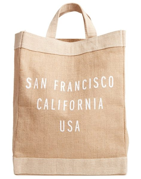 Apolis san francisco simple market bag in natural - A handcrafted tote with a waterproof lining and natural...