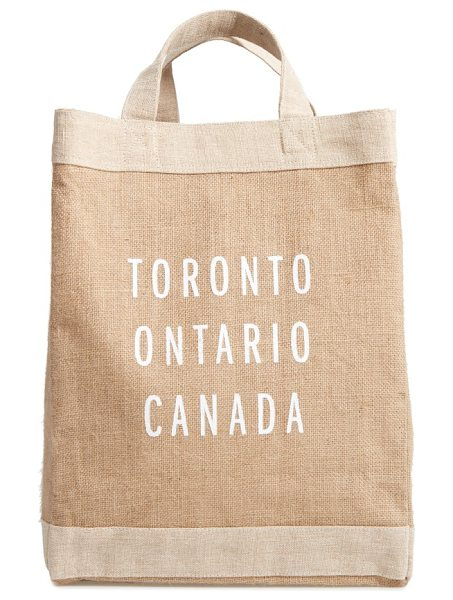 Apolis toronto simple market bag in natural - A handcrafted tote with a waterproof lining and natural...