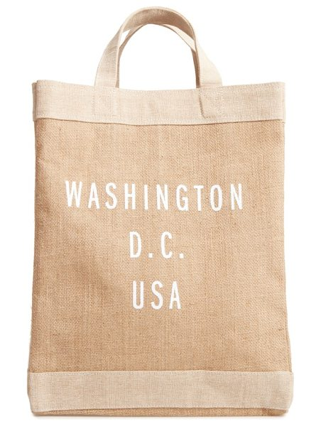 Apolis washington d.c. simple market bag in natural - A handcrafted tote with a waterproof lining and natural...