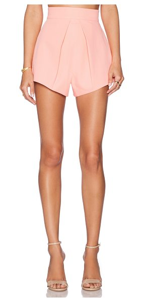 AQ/AQ Adele shorts plain in coral - Main & Lining: 100% poly. Dry clean only. Shorts measure...