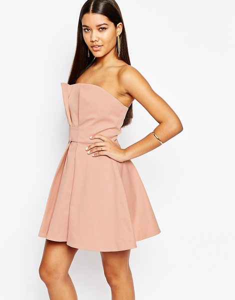 "AQ/AQ AQ/AQ Bandeau Prom Mini Dress - """"Party dress by AQ/AQ, Smooth woven fabric, Bandeau..."