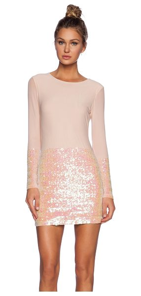 AQ/AQ Facet mini dress - Poly blend. Fully lined. Sequin detail. Hidden back...