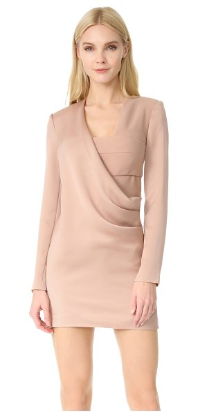 AQ/AQ larah jacket dress in pink sand - A formfitting AQ/AQ dress feels daring with a peek-a-boo...