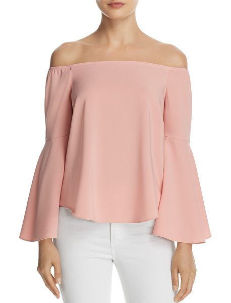 AQUA Bell Sleeve Off-the-Shoulder Top - 100% Exclusive in blush - Aqua Bell Sleeve Off-the-Shoulder Top - 100% Exclusive-Women