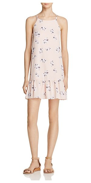 AQUA Floral Flounce Hem Dress - 100% Exclusive in blush - Aqua Floral Flounce Hem Dress - 100% Exclusive-Women