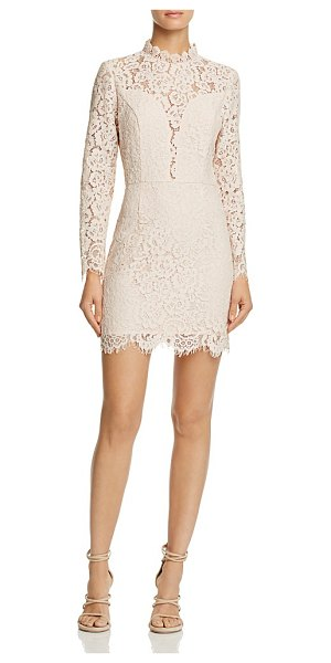 AQUA Illusion Lace Cocktail Dress - 100% Exclusive in blush - Aqua Illusion Lace Cocktail Dress - 100% Exclusive-Women