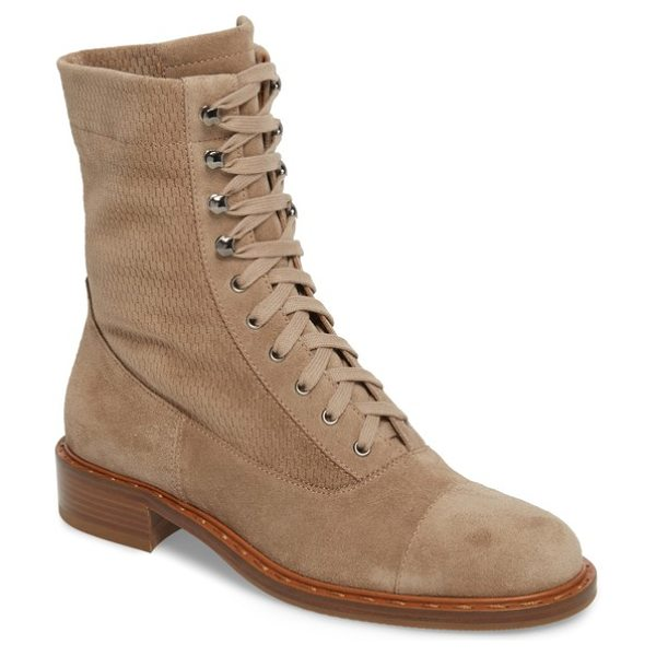 AQUATALIA brigitta weatherproof boot - Soft suede defines quietly luxe lace-up boots inspired...