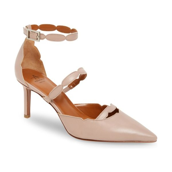 Aquatalia melanie pump in blush - Scalloped straps provide an elegant update for a shapely...