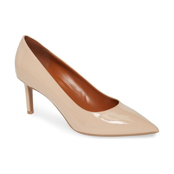 Aquatalia melina weatherproof pointy toe pump in beige