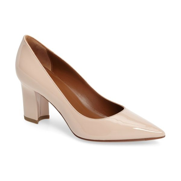 Aquatalia michaela weatherproof pump in blush - A signature weatherproof finish helps this classic pump...