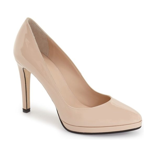 Aquatalia unicia weatherproof pump in blush patent - A cushioned footbed and supple leather lining lend...