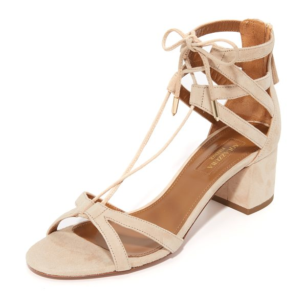 AQUAZZURA beverly hills sandals - Slim, crisscross straps compose these suede Aquazzura...