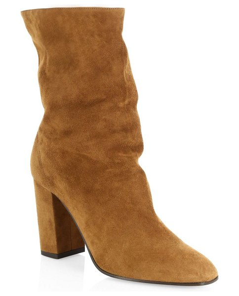 Aquazzura boogie suede ankle boots in cinnamon