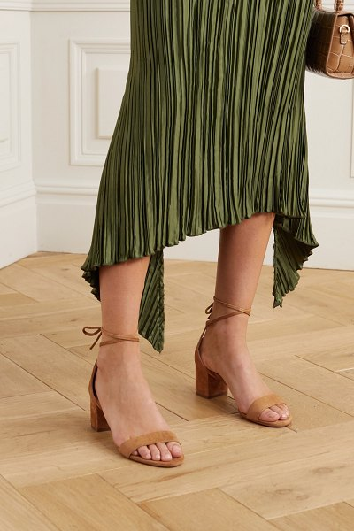 Aquazzura city 50 suede sandals in beige