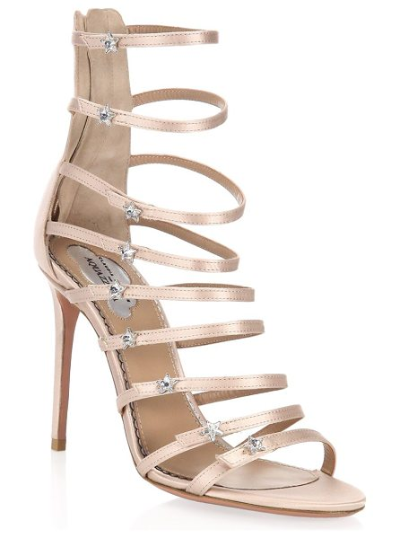 AQUAZZURA claudia schiffer x  crystal star sandals - On-trend sandals with metallic stars on straps. Stiletto...