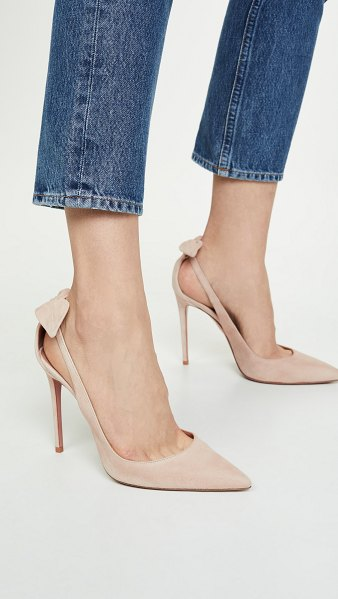 Aquazzura deneuve pumps 105 in nude