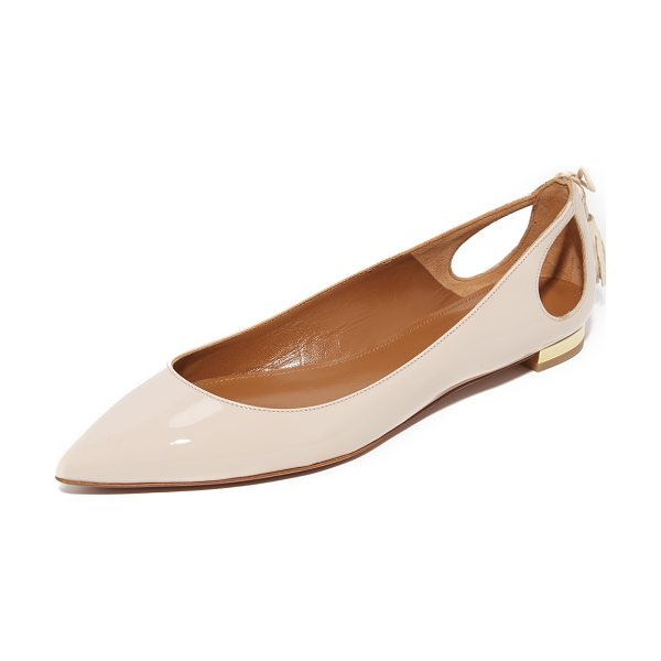 Aquazzura forever marilyn flats in blush