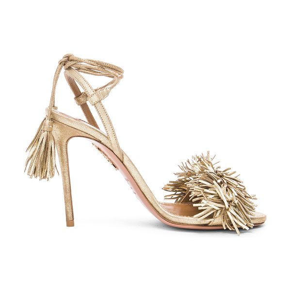 AQUAZZURA Leather Wild Thing Heels - Leather upper and sole.  Made in Italy.  Approx 100mm/ 4...