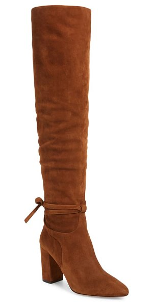 Aquazzura milano slouchy knee high boot in brown