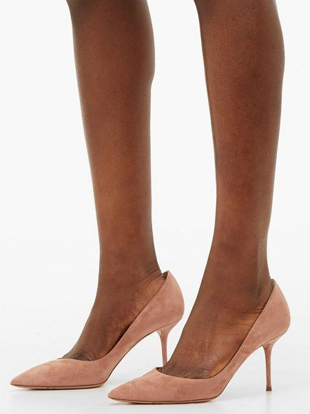 Aquazzura purist 75 suede pumps in light pink