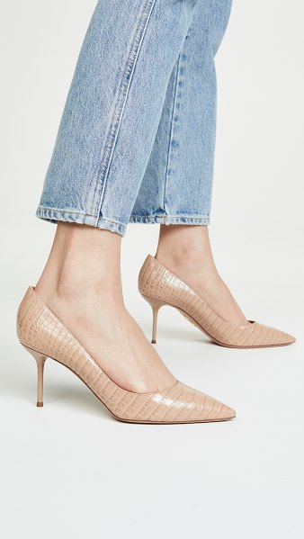 Aquazzura purist 75mm pumps in dark nude
