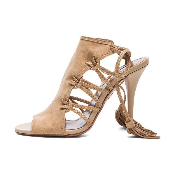 Aquazzura Sahara suede heels in neutrals - Suede upper with leather sole.  Made in Italy.  Approx...