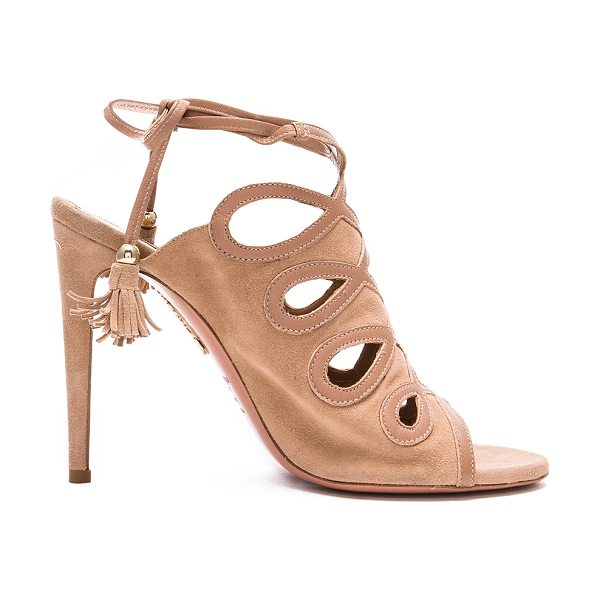 Aquazzura Sergeant Suede Heels in neutrals - Suede upper with leather sole.  Made in Italy.  Approx...