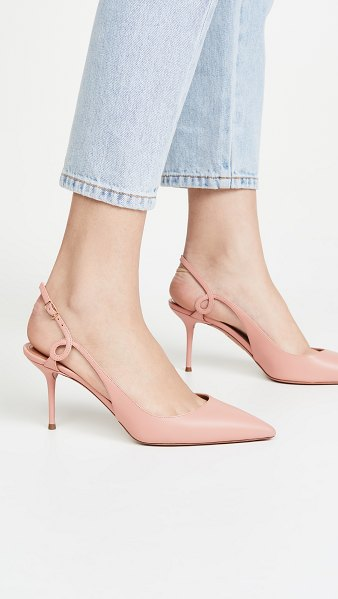 Aquazzura serpentine slingback 75mm in peonia pink