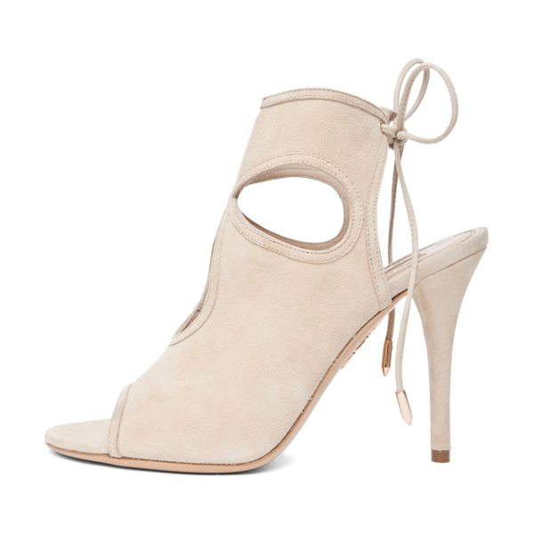 AQUAZZURA Sexy Thing Suede Sandals - Suede upper with leather sole. Made in Italy. Approx...