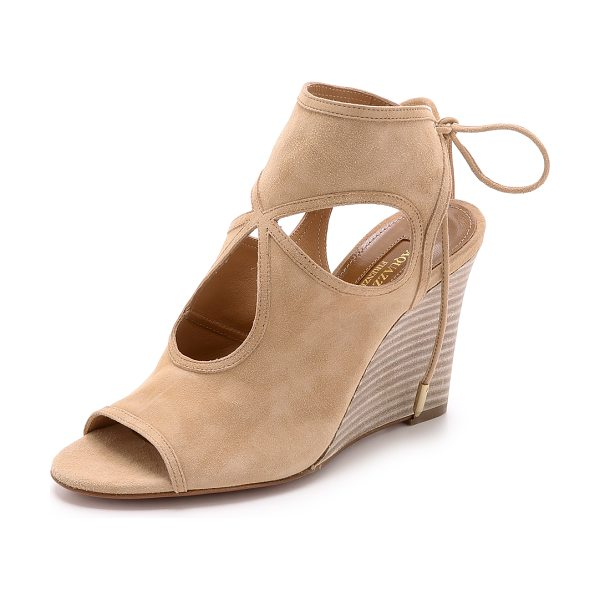 Aquazzura Sexy thing wedge sandals in nude - Signature Aquazzura Sexy Thing sandals get a classic...