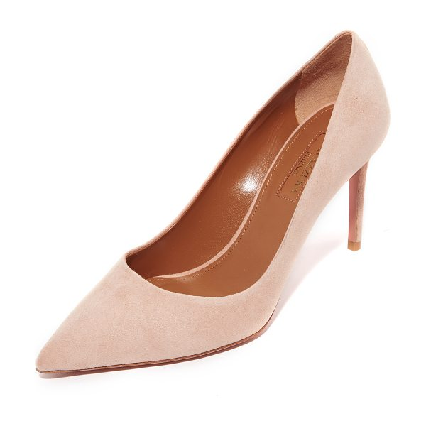 Aquazzura simply irresistible 85 pumps in powder pink