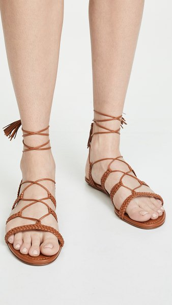 Aquazzura stromboli flat sandals in tan