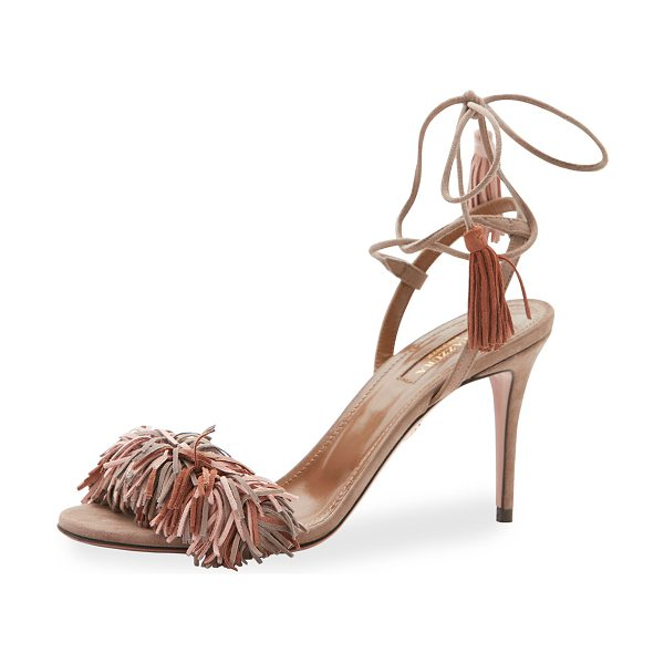 AQUAZZURA Wild Thing Suede 85mm Sandal - Aquazzura suede sandal. Available in multiple colors....