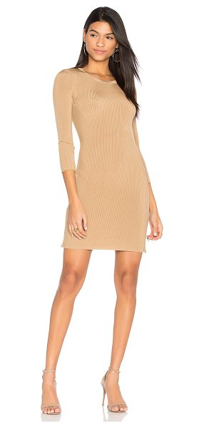 ARC Morgan Dress in tan - Spandex blend. Hand wash cold. Unlined. Side zipper...